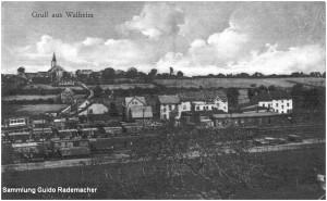 1922_BfWalheim_StrassenbahnanschlussgleismitTw_Foto_Slg_Guido_Rademacher_F