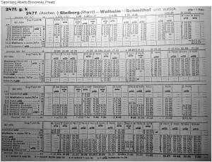 Sommer1959 _Kursbuchtabelle_Stolberg_Walheim_a b