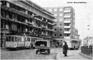 1957_Stolberg_Rathausstrasse_Talbahnstrasse_Neubau_Strassenbahn_Bus_x1F2_F