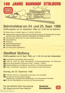 1988_Infoblatt_100JahreStolbergHbf_Vorderseite_x1F2_F