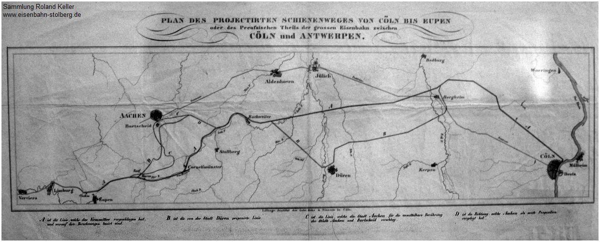 1837_Streckenvarianten_Rheinische_Eisenbahn_Repro_von_1986_2098_xF5_F