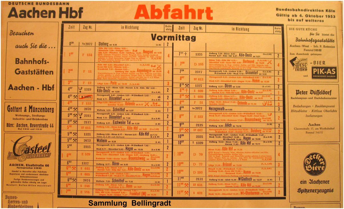 1953_Aachen_Hbf_Aushangfahrplan_x1F3_F